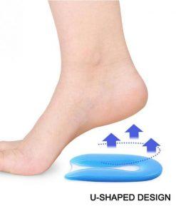 Silikoninlägg för häl produktbild med fot
